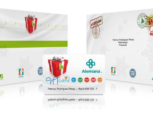 Invitación porta gitfcard / Clínica Alemana