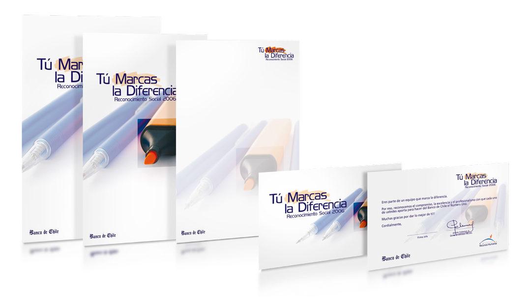 """Programa reconocimiento """"Tú marcas la diferencia"""" / Banco de Chile"""