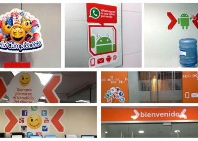 Branding oficinas Nextel